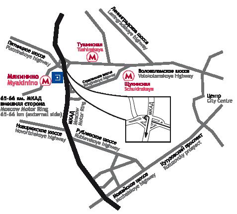 Схема проезда к выставке в сокольниках